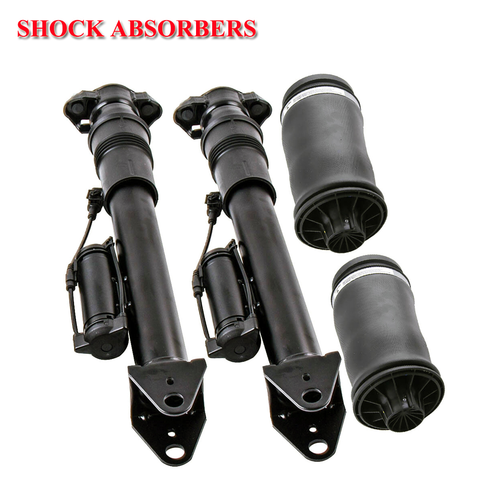 Rear Air Suspension Shock 2pcs with ADS and 2pcs Air Spring for Mercedes Benz GL ML Class X164 W164 A1643202031 A1643200725Rear Air Suspension Shock 2pcs with ADS and 2pcs Air Spring for Mercedes Benz GL ML Class X164 W164 A1643202031 A1643200725