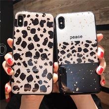 Luxury Gold foil Leopard case For Huawei Honor 8X Back Cover For Honor 10 9 8 V20 V10 V9 7X 7C 7A 6X PLAY cases HONOR 9 LITE