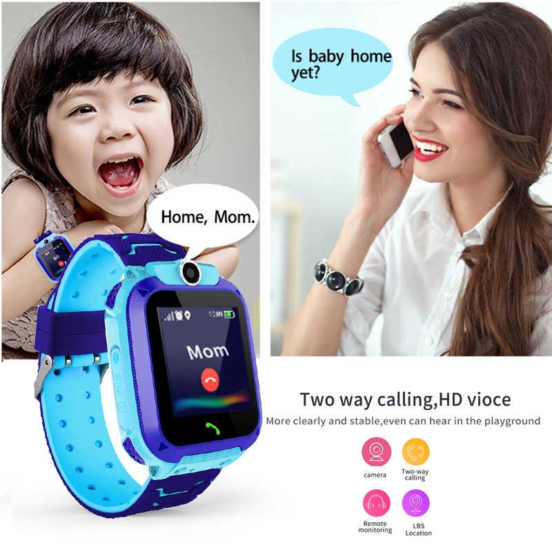 2019 ใหม่สมาร์ทนาฬิกาปอนด์เด็ก SmartWatches เด็กนาฬิกาเด็ก SOS Call Finder ตำแหน่ง Locator Tracker Anti Lost Monitor + กล่อง