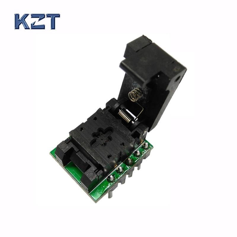 QFN8 DFN8 WSON8 Programming Socket Pogo Pin Probe Adapter Pin Pitch 0 5mm IC Body Size