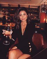 2018 New fashion sexy women dress Notched Button bodycon rayon elegant Sample celebrity party Dress