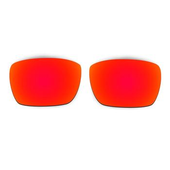 Red Lenses Sunglasses | HKUCO For  Fuel Cell Sunglasses Polarized Replacement Lenses Red/Emerald Green 2 Pairs 100% UVA & UVB Protection