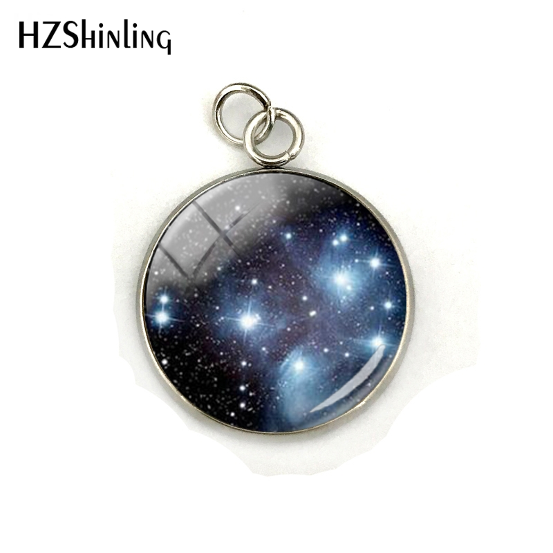 Nebula Space Pendant Astronomy Geek Jewelry, Nebula Charm Pendants Galaxy Space Glass Dome Stainless Steel Pendant Accessories 5