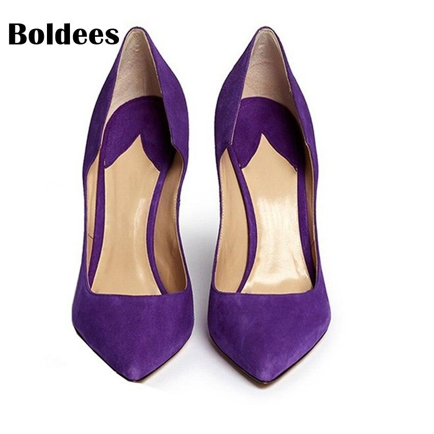 Pointu Daim Mode Color Cm En Bout Femmes Solide Mince Zapatos Pompes Élégant Chaussures De Talons Muje Peu As as Profonde Color À 10 Hauts Haute Mariage Des R1 Showed ZFqn07qzYx