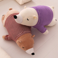 new lovely polar bear plush toy lie prone bear doll Valentine's day gifts 75cm