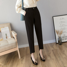 Black suit pants woman 2019 spring high waist slim harem pan