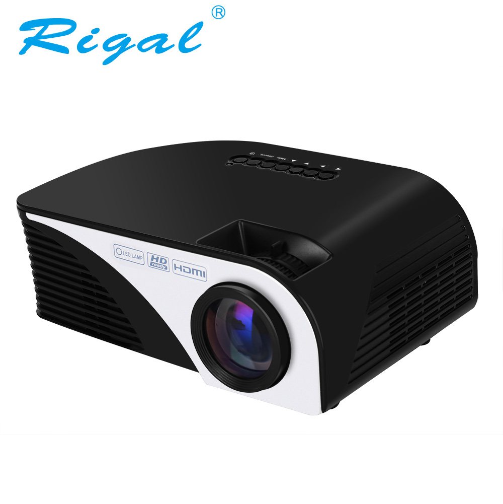 Rigal Projector Beamer Cinema RD805B Mini Lumens Video-Home 1080P LED 1200 AV VGA 3D