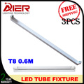 2ft 600mm led tube fixture t8 3pcs free shipping, G13 pin sockets for t8 led tube light
