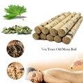 10 pçs/caixa TCM Alta-grau Dez Anos Velhos Moxa Rolo Moxa Umbigo spa massagem relax de acupuntura tubo Anti-envelhecimento puro Moxa Moxabustão