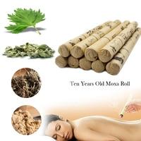 10pcs Box TCM High Grade Ten Years Old Moxa Roll Moxa Tube Acupuncture Navel Spa Massage