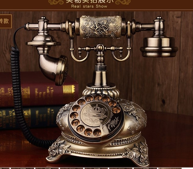 US $71 0 |Antique telephone vintage old fashioned swivel plate/ Mechanical  Ringtones telephone-in Telephones from Computer & Office on Aliexpress com