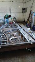 Hench luxury wrought iron gate HC lg7 ,custom size acceptable