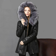 Real Fur Coat Soft Sheepskin Genuine Leather Jacket Women Ladies Clothes Winter Warm Thick Jacket Jaqueta De Couro Plus Size 5XL