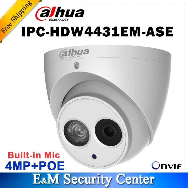Original dahua english IPC HDW4431EM ASE replace IPC HDW4431EM AS with logo english 4MP Network IR