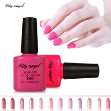 Lily Angel 7.3ml Farget trykkflaske Soak Off UV Gel LED Gel Polsk Profesjonell Nagelsalong Gel Polish 073 - 096