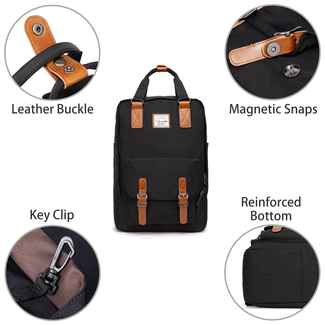 Image 3 - VASCHY Women Backpack School Bags for Girls Women Travel Bags Bookbag Laptop Backpack for Women Mochila Feminine Female Backpack-in Backpacks from Luggage & Bags