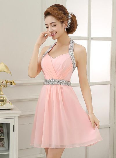 f381f6a1bd7 Simple Typical Cheap Charming Cute New-designed Junior Chiffon Homecoming  Dress for Girls