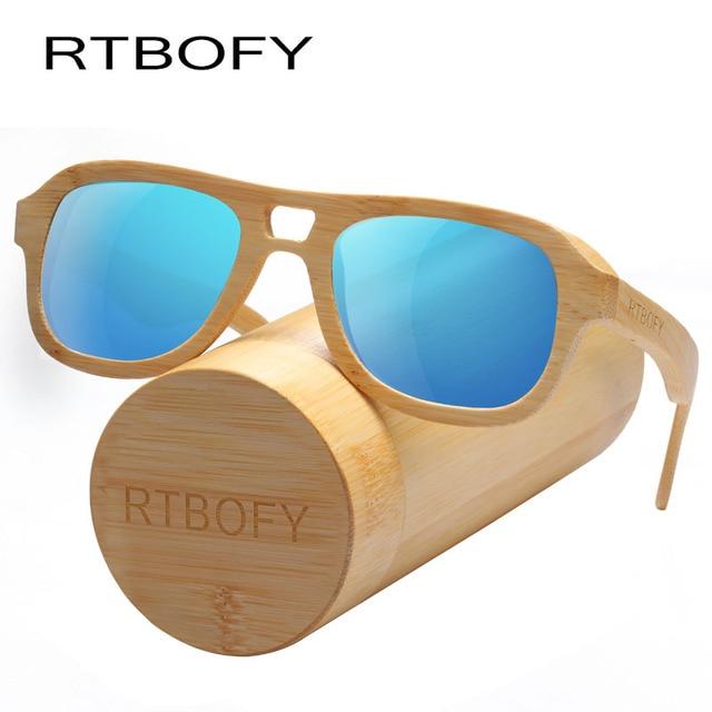 57de6613209 RTBOFY Wood Sunglasses Women Bamboo Frame Eyeglasses Polarized Lenses  Glasses with Wood Box UV400 Protection Shades Eyewear