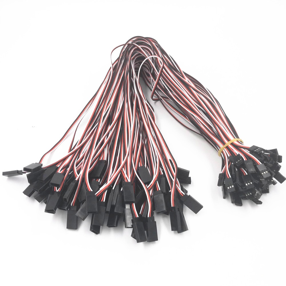 5/10Pcs 150 / 300 / 500mm Servo Extension Lead Wire Cable For RC Futaba JR Male to Female 15cm 30cm 50cm(China)