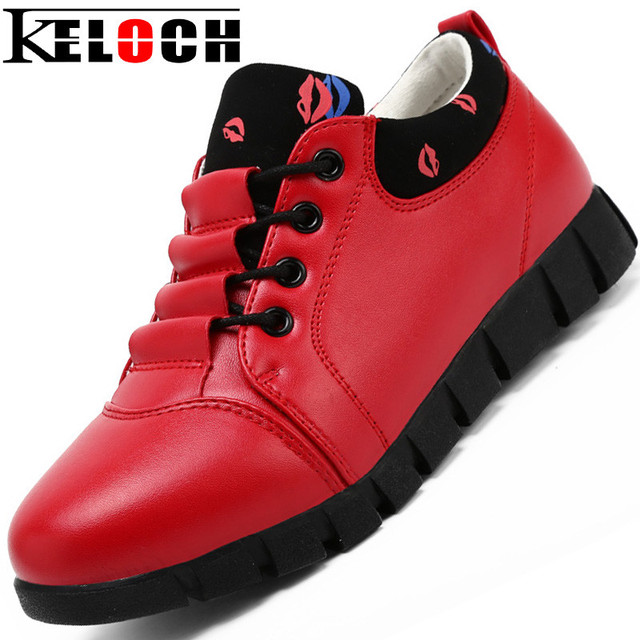 Keloch Casual Heighten Shoes Women Flats PU Made Casual Autumn Flats Women Dames Schoenen Chaussure Femme