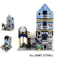 1275Pcs 2016 Lepin 15007 Factory City Street European Market Model Building Block Set Bricks Kits Minifigure