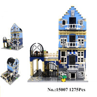 1275Pcs 2016 Lepin 15007 Factory City Street European Market Model Building Block Set Bricks Kits Minifigure