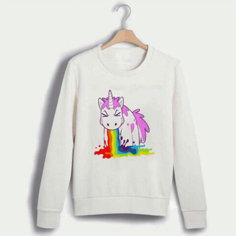 Unicorn Women Man Lover Long Sleeve Sweatshirt Ladies Jumper Pullover Autumn Tops