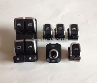 Genuine 1set Chrome Window Mirror Trunk Switch Button Combo For Audi A6 A7 C7 Q3 4G0 959 851 B 8KD 959 855A 8K0959855A