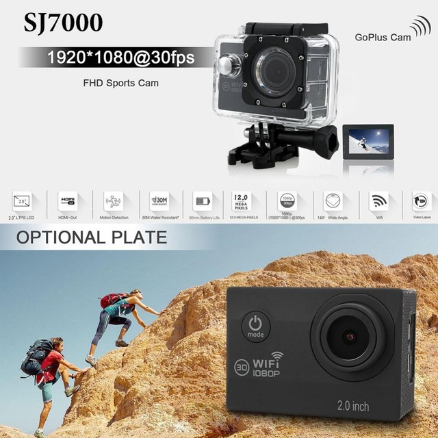 "Original High Quality SJ7000 2.0"" WIFI FHD 1080P Sports DV Action Waterproof Camera Camcorder DVR Professional 360"