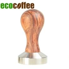 Ecocoffee 304 נירוסטה קפה Tamper 49/51/53/57/58mm Brista אספרסו בסיס אבקה לחץ שטוח קפה פטיש חדש מצוידת
