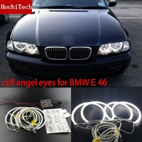 HochiTech WHITE 6000K CCFL Headlight Halo Angel Demon Eyes Kit Angel Eyes Light For BMW E46