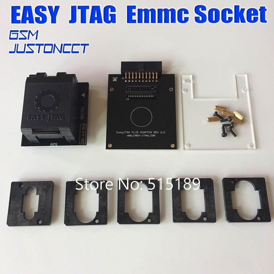 Original nouveau EASY JTAG PLUS boîte EMMC Socket (BGA153/169, BGA162/186, BGA221, BGA529)