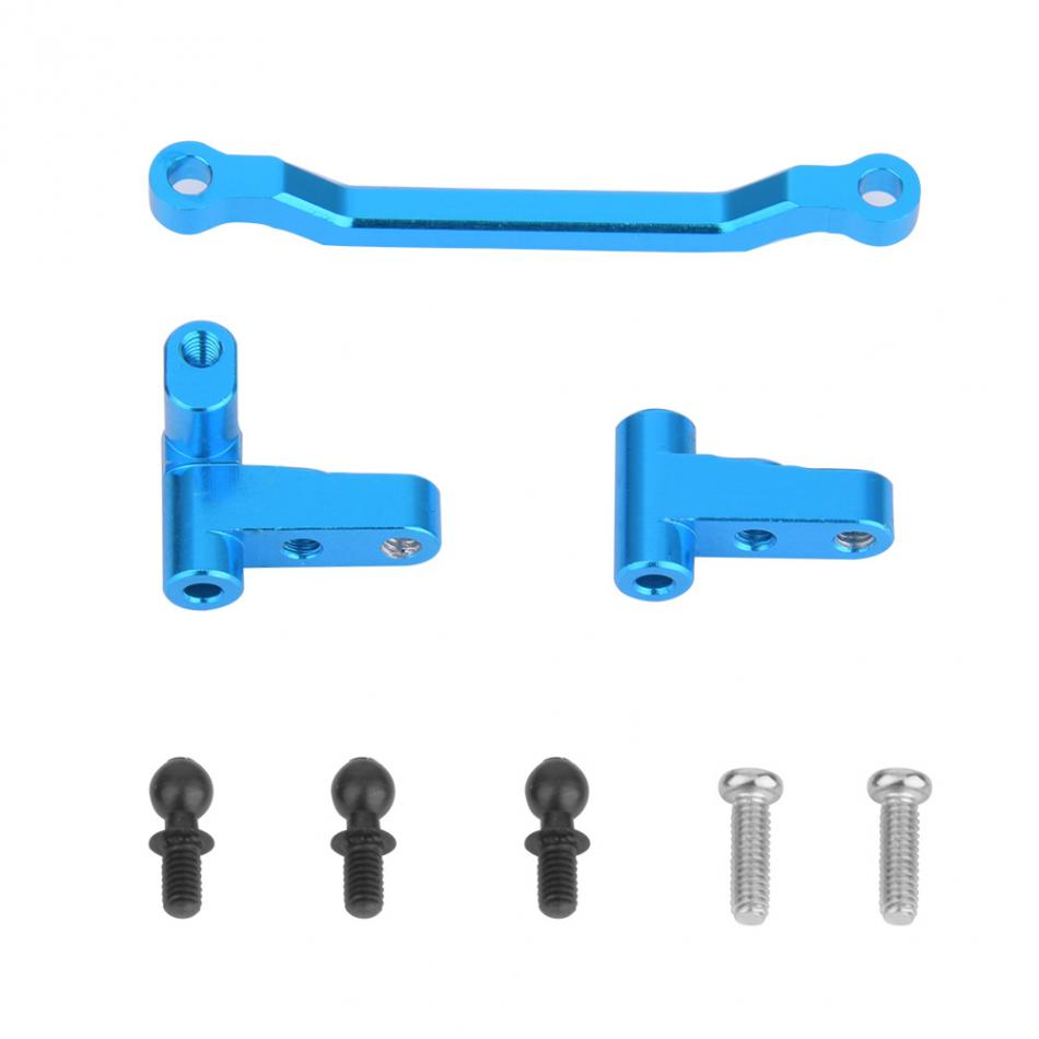 3PCS/Set Upgrade Aluminum Steering Linkage Metal RC Car Steering Linkage Turning Seat For WLtoys A949 A959-B A969 A979 K929