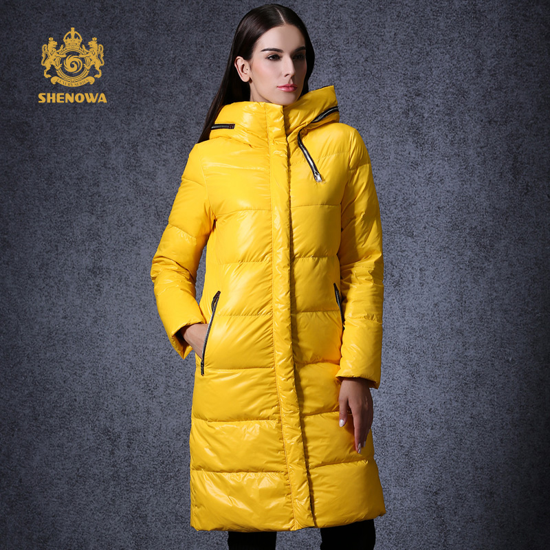 2016 New winter jacket women down coat yellow and red ...