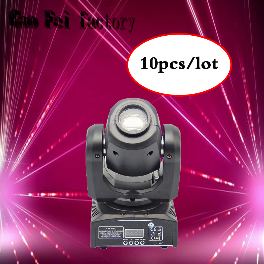 10pcs/lot 30W LED DJ disco Spot Light /30W LED Spot Moving Head Light/DMX512 stage light effect/30W LED patterns lamp new 1 30w led spot light 6 8w wash light led display