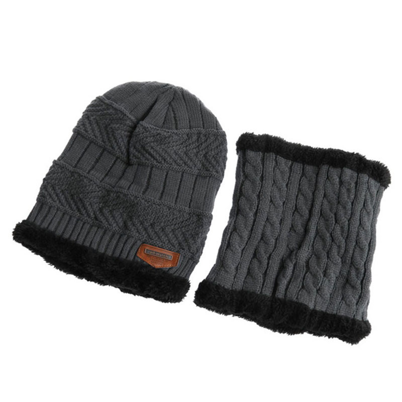 Warm Knitted Hat and Circle Scarf (20)