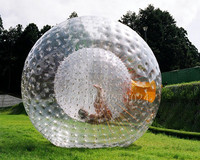 Free Shipping 2.5m PVC Inflatable Human Hamster ball for sale,inflatable zorb ball, Rolling Ball For Grass Free a Pump