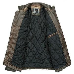 Image 2 - High Quality Faux Leather Jacket Men Vintage Autumn Winter New Motorcycle Jacket Men Business Casual Mens Biker Jacket Coat