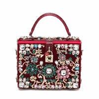 Super AAA Original Quality 100% Genuine Leather Women Bags Rivet Handbags Flower Pearl Shoulder Bag Totes Lady Evening Party Bag
