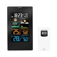 Thermometer Alarm Clock Wireless Weather Station In/Outdoor Temperature Humidity LCD Display Barometer Weather Forecast Clock