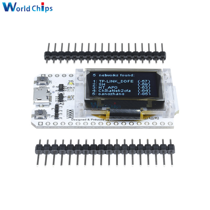 ESP32 0.96 Inch Blue OLED Digital Display Bluetooth WIFI Kit 32 Module CP2102 32M Flash