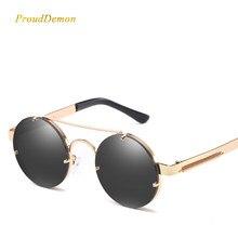 e7eeb6571e Prouddemon nuevo Retro Steampunk gafas de sol de las mujeres de lujo Popular  resorte de Metal, gafas de sol para hombres gran es.