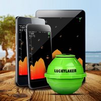 LUCKYLAKER FF916 Sonar Wireless WIFI Fish Finder 50M 130ft Sea Fish Detect Finder Fishing Sonar Android