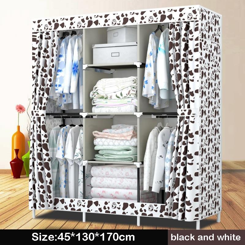 Нов платнен гардероб прост 4 висящи - Мебели - Снимка 3