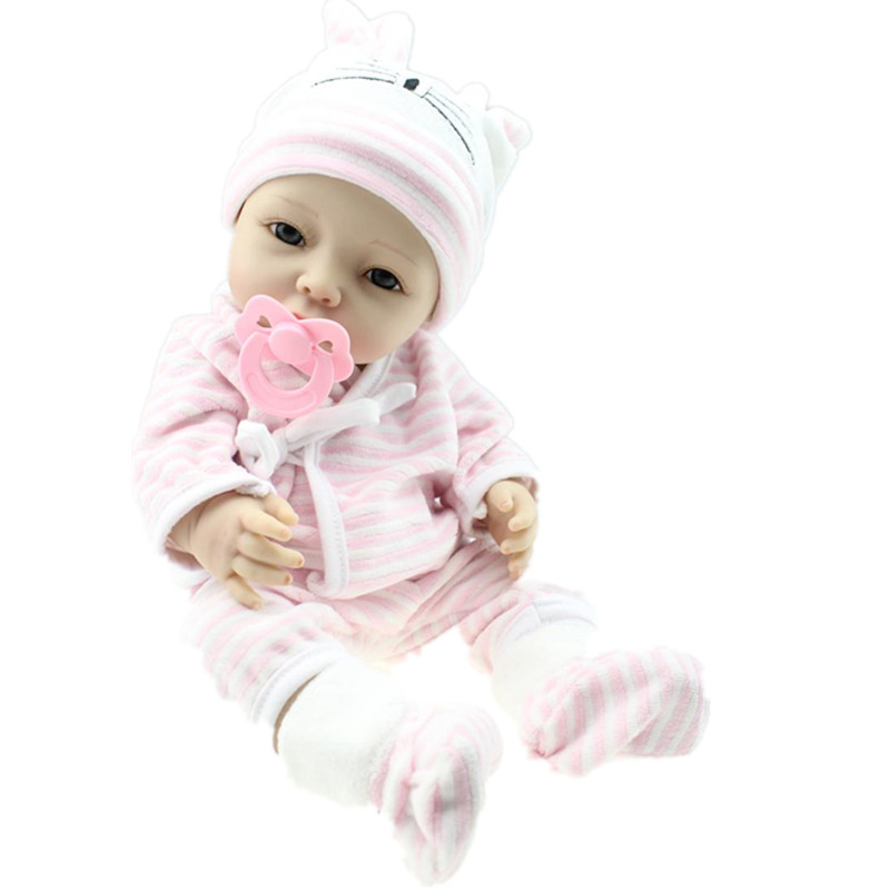 40cm Girl Lifelike Full Silicone Vinyl Reborn Baby Doll Toys Play House Juguetes Child Kids Birthday Christmas Gifts Can Bath high end soft vinyl reborn doll 55cm reborn baby toys kids birthday gifts play house diy for child juguetes