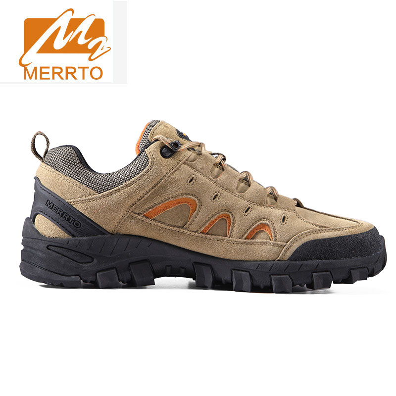 Merrto Hiking Shoes MenOutdoor Hiking Boots Sports Sneakers Suede Leather Men Trekking Shoes Breathable Mountain Boots Climbing цены