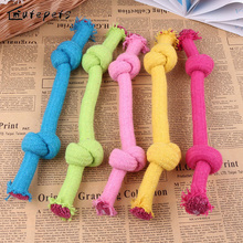 New Cotton Colorful Double Knot Rope Pet Toys Tooth Cleaning Dog Puppy Training Toy
