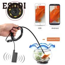 2017 Wifi Wireless For iOS Android Endoscope Borescope HD 2.0MP 8mm 1/2/5m Camera Professional Inspection Pipe Mini Camcorder