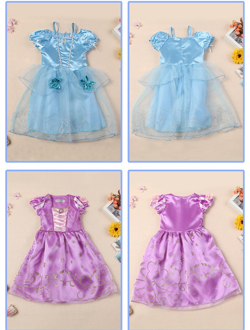2018 mädchen Kleid Cinderella Kostüm für Kinder Rapunzel Belle Sofia ...
