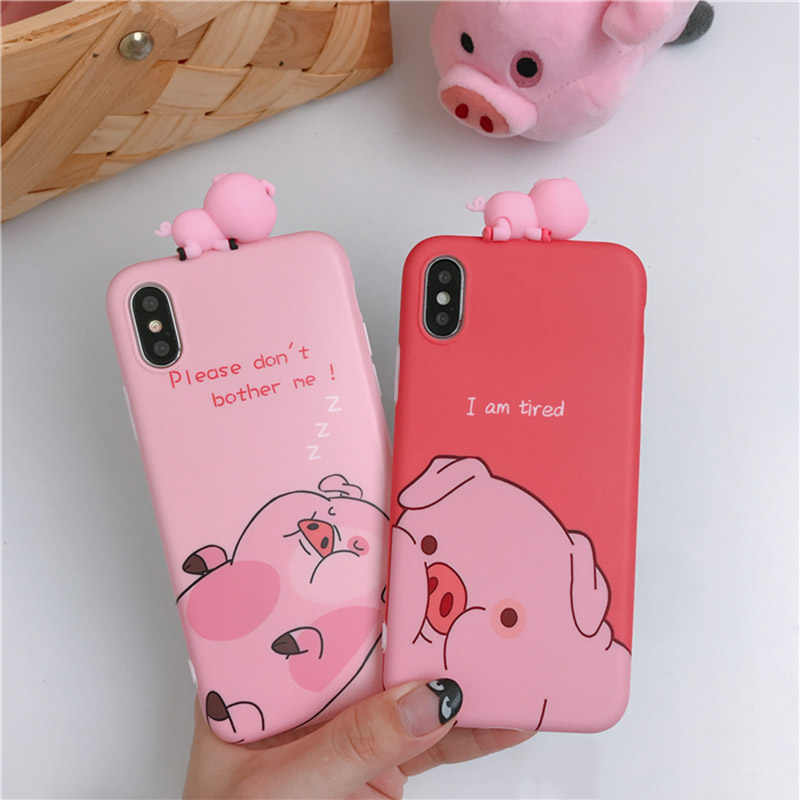 timeless design 7c8ff 9f99c Detail Feedback Questions about Funny Cartoon Pig Phone Case For ...